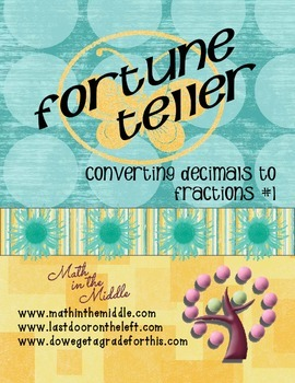 Converting Decimals To Fractions Fortune Teller #1