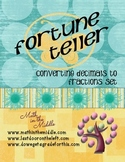 Converting Decimals To Fractions Fortune Teller Set