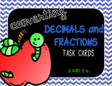 Converting Decimals and Fractions Task Cards (5.NBT.3.a)