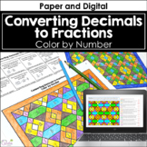 Converting Decimals to Fractions Color by Number