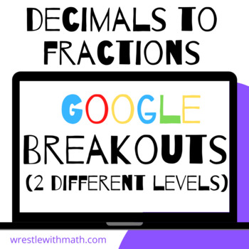 Converting Decimals to Fractions – Two Breakout Activities!