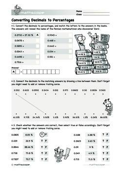 Converting Decimals to Percentages