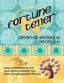 Converting Decimals to Percents Fortune Teller #1
