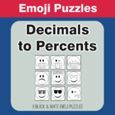 Converting Decimals to Percents - Emoji Picture Puzzles