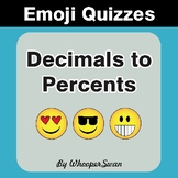 Converting Decimals to Percents Emoji Quiz