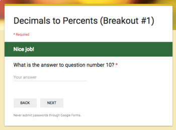 Converting Decimals to Percents – Two Breakout Activities!