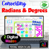 Unit Circle Converting Degrees Radians Digital Mazes  GOOGLE™ Distance Learning