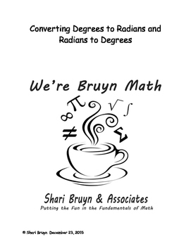 Converting - Degrees to Radians and Back