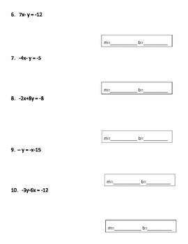 Converting Equations into Slope-Intercept Form