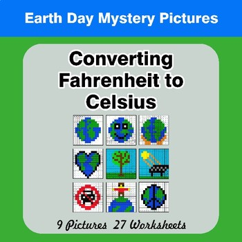 Converting Fahrenheit to Celsius - Earth Day Math Mystery Pictures