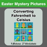 Converting Fahrenheit to Celsius - Easter Math Mystery Pictures