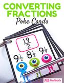 Converting Fractions Alien Poke Game (Common Core Based)