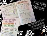 Converting Fractions & Decimals - Decorated Notes Brochure