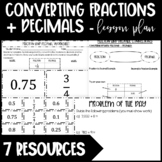 Converting Fractions + Decimals - Long Division for Terminating/Repeating