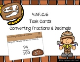 Converting Fractions & Decimals {Math Task Cards}