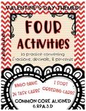 Converting Fractions, Decimals, & Percents Math Centers -