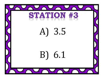 Converting Fractions & Decimals Stations