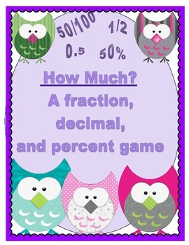 Converting Fractions, Decimals, and Percents- 5 Holiday Game boards