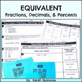 Converting Fractions Decimals and Percents Activity
