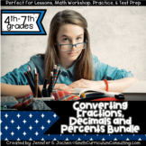 Converting Fractions, Decimals and Percents Activity Bundl