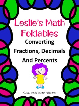 Converting Fractions, Decimals and Percents Foldable for Interactive Notebook