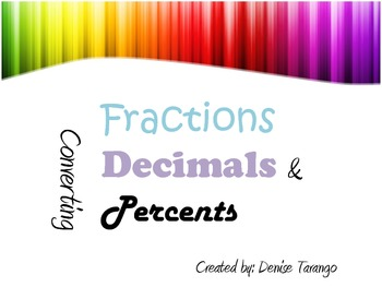 Converting Fractions, Decimals, and Percents Like a STAAR