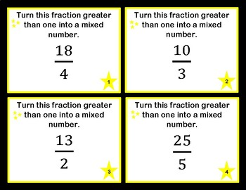Converting Fractions Greater Than One and Mixed Numbers
