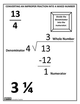 Converting Fractions Study Guide and Worksheet