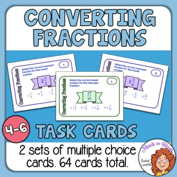 Converting Fraction Task Cards