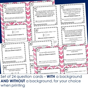 "Converting Fractions and Decimals Task Cards - Footloose ""Turbo"""