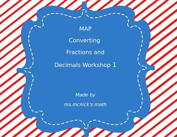 Converting Fractions and Decimals MAP/Descarte Aligned 191 - 230