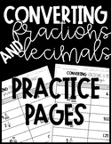 Converting Fractions and Decimals | Simple Practice Pages