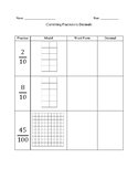 Converting Fractions into Decimals Worksheet