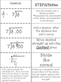 Converting Fractions to Decimal Power Point