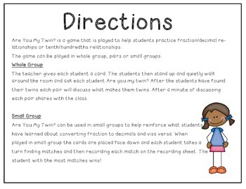 Converting Fractions to Decimals: Are You My Twin
