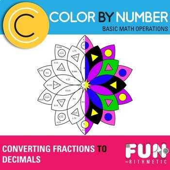 Converting Fractions to Decimals Color by Number