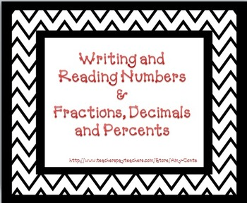 Converting Fractions to Decimals, Decimals to Percents