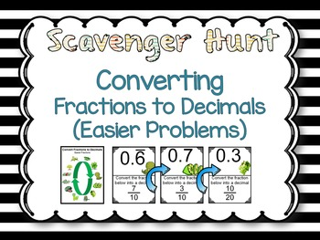 Converting Fractions to Decimals (Easier Problems)