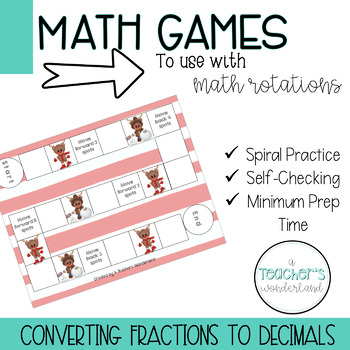 Converting Fractions to Decimals Game
