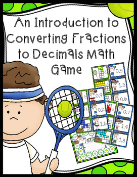Converting Fractions to Decimals Game - 30 Task Cards