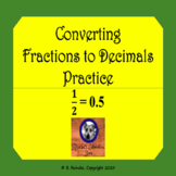 Converting Fractions to Decimals Practice Worksheets