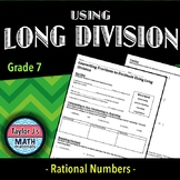 Converting Fractions to Decimals Using Long Division Worksheet