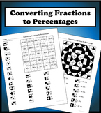 Converting Fractions to Percents Color Worksheet