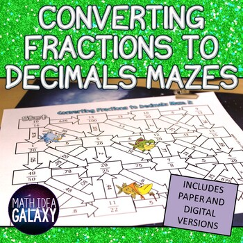 Converting Fractions to a Decimal Activity