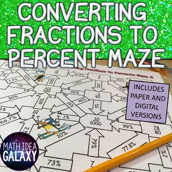 A Maze Activity for Converting Fractions to a Percent