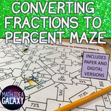 Maze Activity for Converting Fractions to a Percent