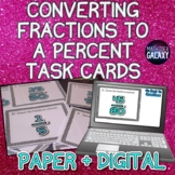 Converting Fractions to a Percent Task Cards