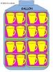 Converting/Conversion Gallons, Quarts, Pints, and Cups Gra
