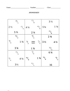 Converting Improper Fractions into Mixed Numbers Puzzle