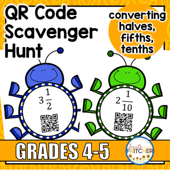 Converting Improper Fractions to Mixed Numbers (1/2, 1/5, 1/10)